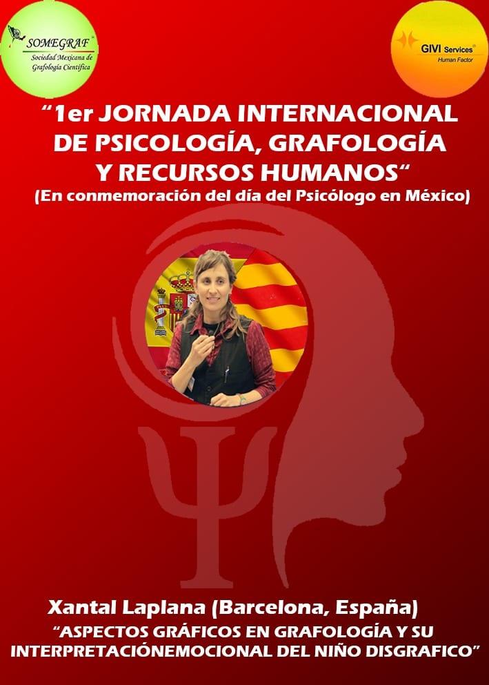 Ponencia de Xantal Laplana en la 1era jornada Internacional de Psicología, Grafología y Recursos Humanos