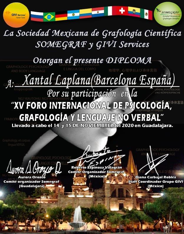 XV Foro Internacional de Psicología, Grafología y lenguaje no verbal