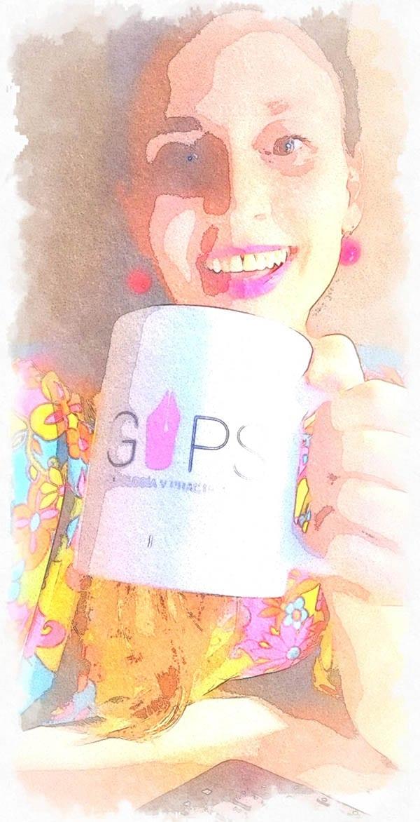 Xantal Laplana y su taza de GYPS
